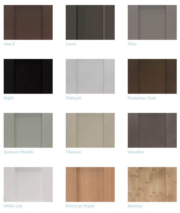 Some of the Brown Jordan colors available at KBIS 2013.